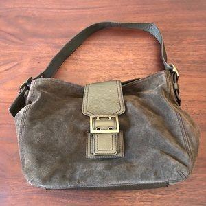 Banana Republic Olive Leather Hobo Shoulder Bag